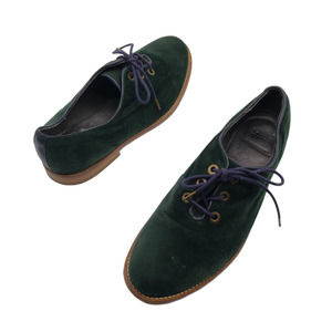 Ksubi suede lace up derby shoes oxfords green 39 7
